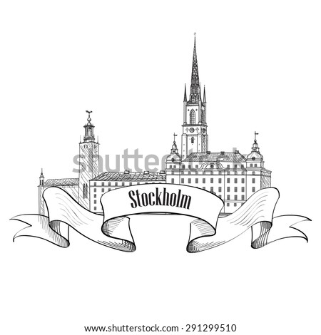 stockholm label isolated