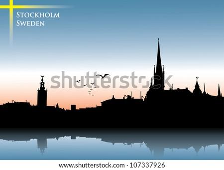 stockholm skyline background