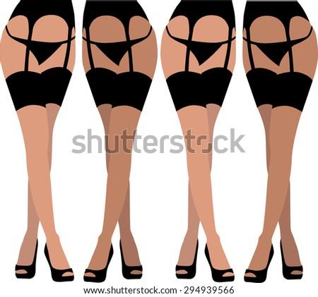 stocking woman legs vector