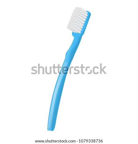 Stomatology toothbrush icon. Realistic illustration of stomatology toothbrush vector icon for web