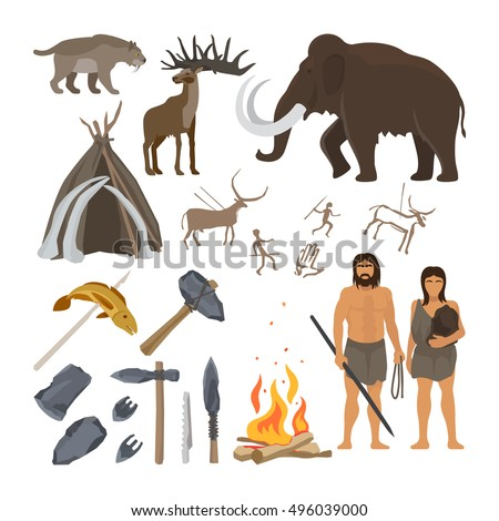 stone age vector isolated on
