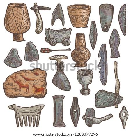 stone age vector primitive cave