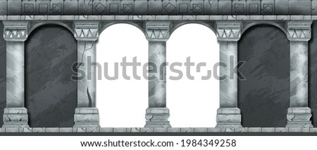 stone ancient arch  vector