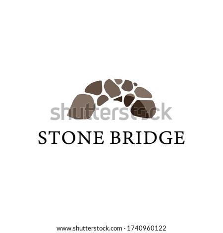 stone bridge logo icon vector