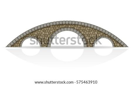 stone bridge stock vector...