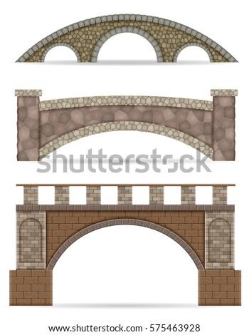 stone bridge stock vector