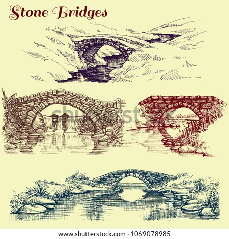 stone bridges set a collection