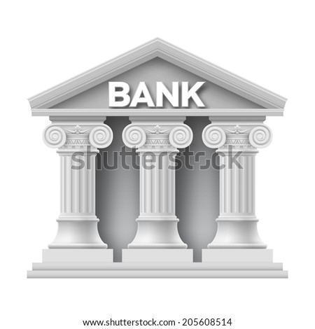 stone building of bank with