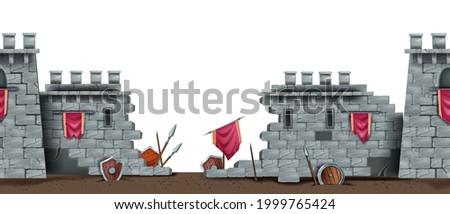 stone castle wall  ancient ruin