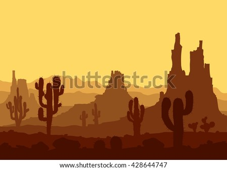 stone desert landscape with