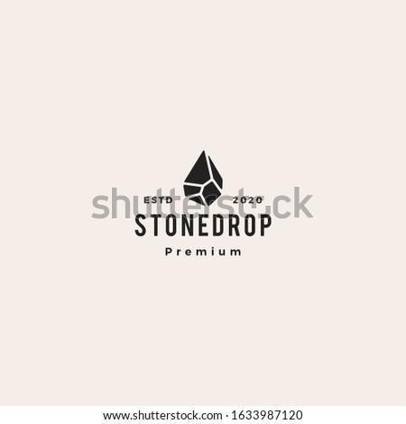 stone drop logo vector icon