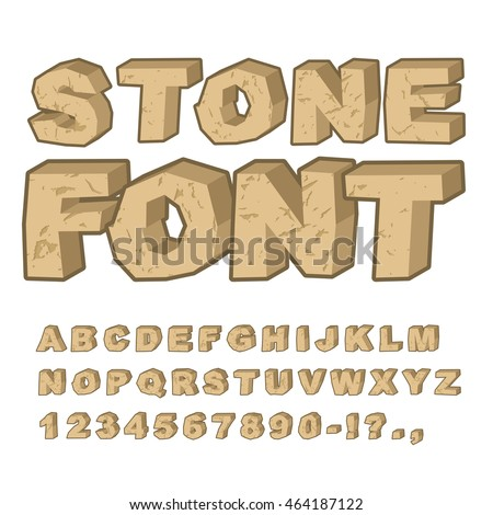 stone font set of letters from