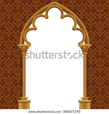 stone gothic gate with classic