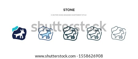 stone icon in different style