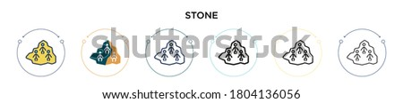 stone icon in filled  thin line