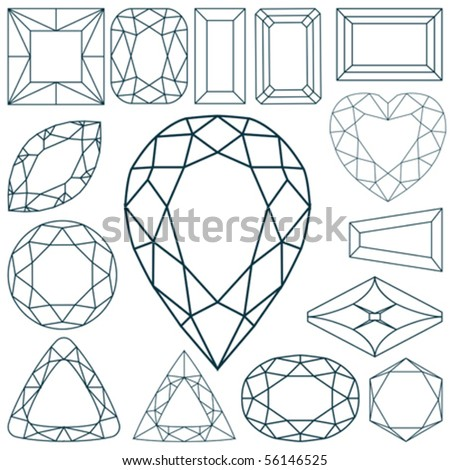 stone shapes against white background, abstract vector art illustration