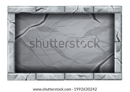 stone sign board game ui
