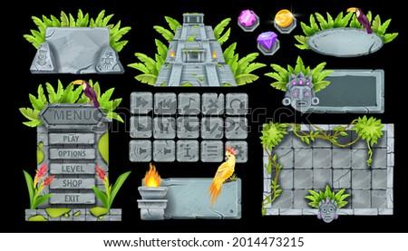 stone ui game element set