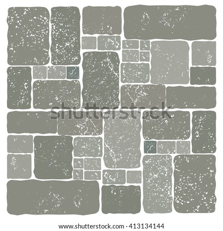 stone wall composition set