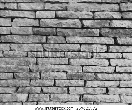 stone wall in black and white