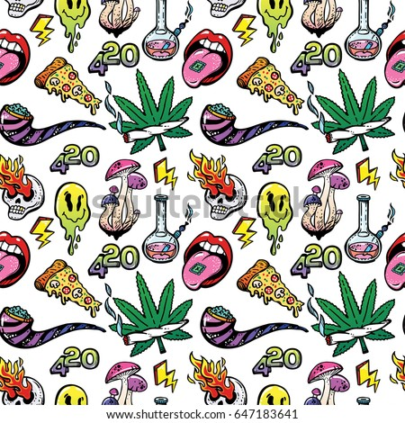 stoned trippy drug theme and