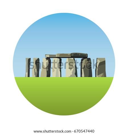 stonehenge icon isolated on
