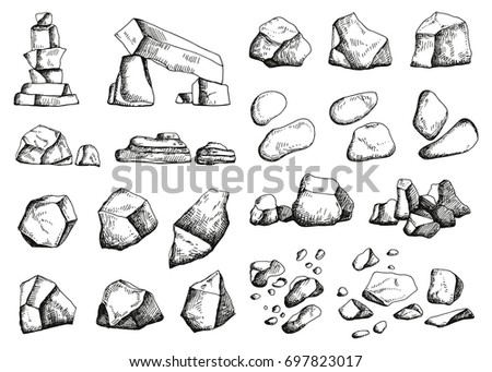 stones different set of sketch