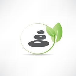 stones for spa salon icon