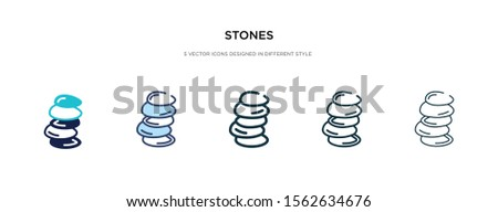 stones icon in different style