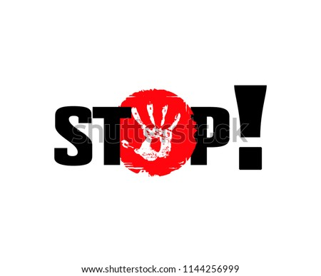 stop access ban poster  ban vector red black