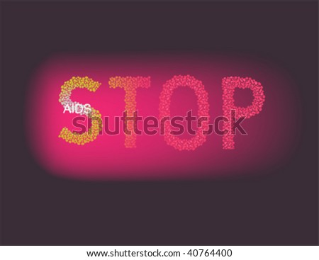 Stop AIDS -vector illustration for AIDS world day