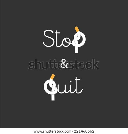 stop and quit smoking concept