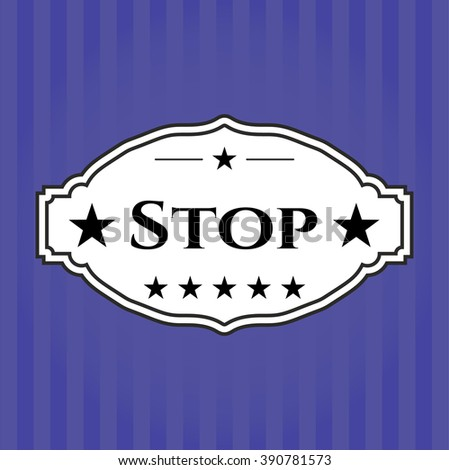Stop banner or card