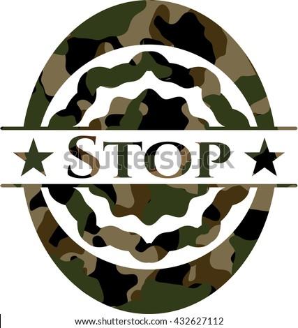 Stop camo emblem