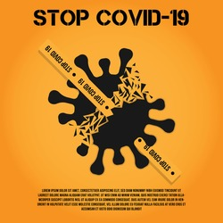 stop corona virus.covid 19 protection.Killing or destroying coronavirus covid-19 concept background Free Vector