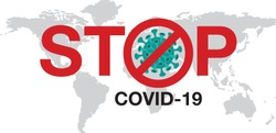 Stop Coronavirus, covid - 19 , China, Wuhan, Danger, vector Illustration.World Health Organization WHO introduced new official name for Coronavirus disease named COVID-19.