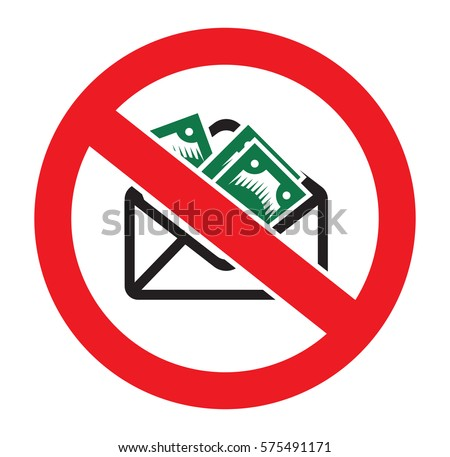 Stop corruption vector sign Stock photo ©