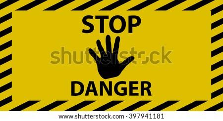 stop danger sign