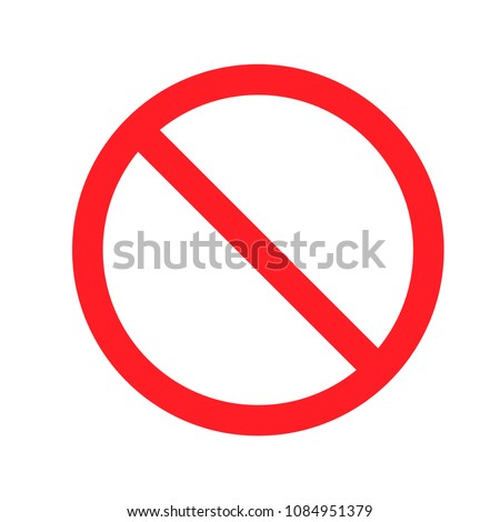 Stop, do not enter vector icon isolated on white background. Restriction icon. No parking sign. Stok fotoğraf ©