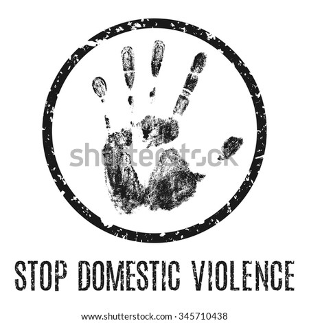 Stop domestic violence - vector illustration