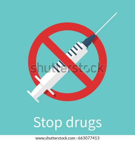stop drugs sign vector
