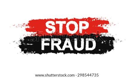 stop fraud grunge social