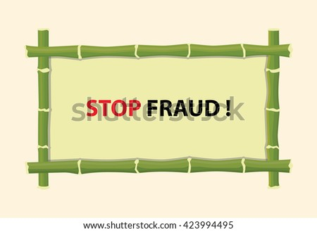 stop fraud text with red text