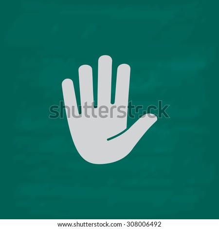 stop   hand icon imitation