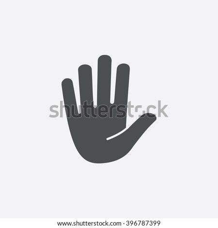 stop hand icon vector