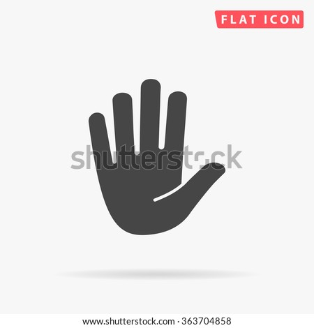 stop hand icon vector stop