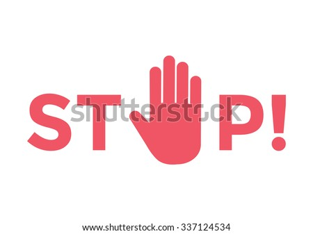 stop hand sign human hand stop