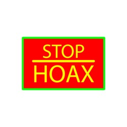 stop hoax icon design ,flat trendy style collection