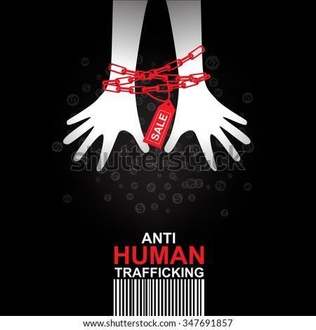 stop human trafficking vector