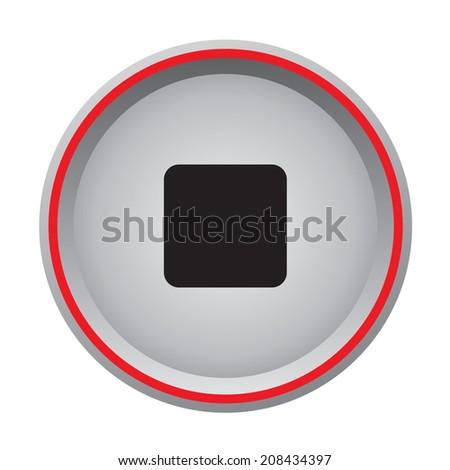 stop icon circular button #208434397